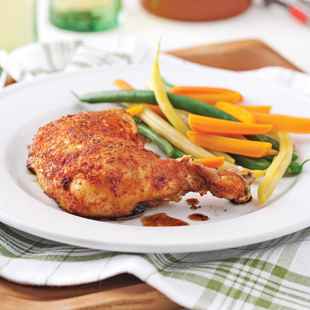 Cuisses de poulet en croûte d'épices et citron