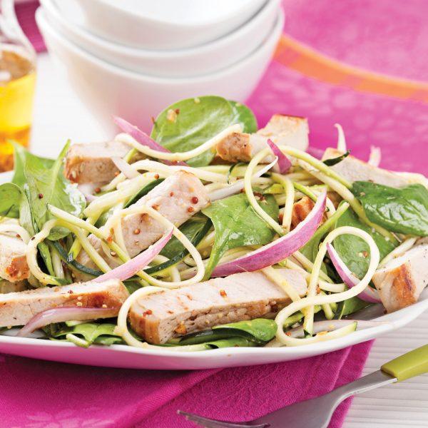 Salade de porc et courgettes