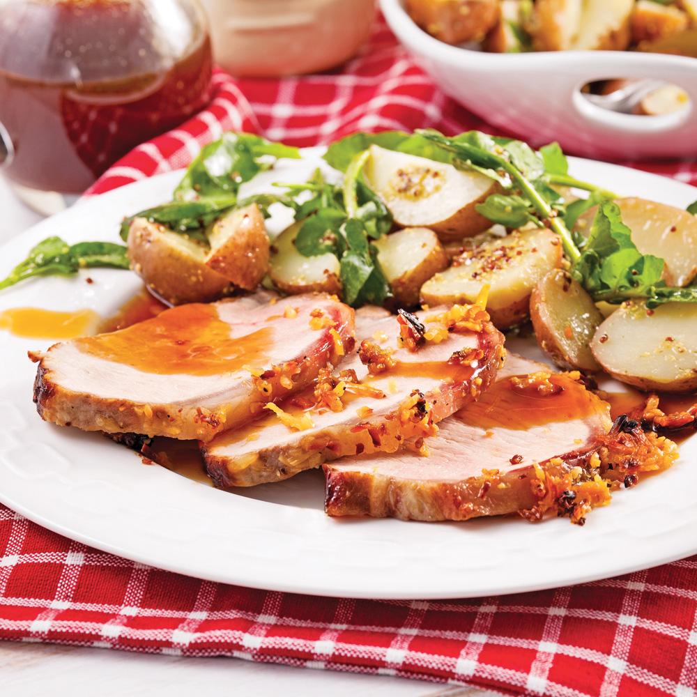 Rôti de porc en croûte de parmesan