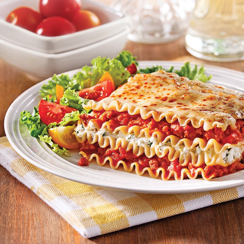 Lasagne aux saucisses et ricotta