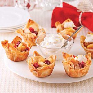 Bouchées aux pommes et pâte d'amandes