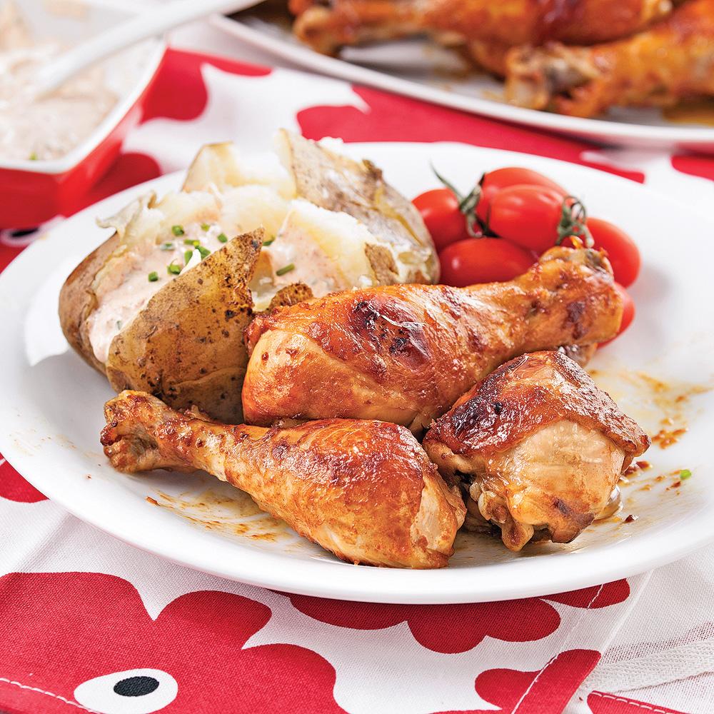 Pilons de poulet à la texane