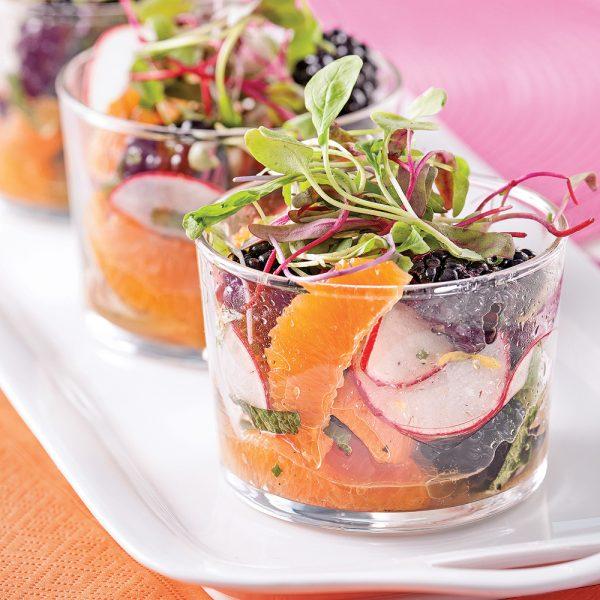 Salade fraîcheur en verrines