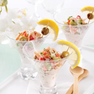 Salade de crabe en verrines