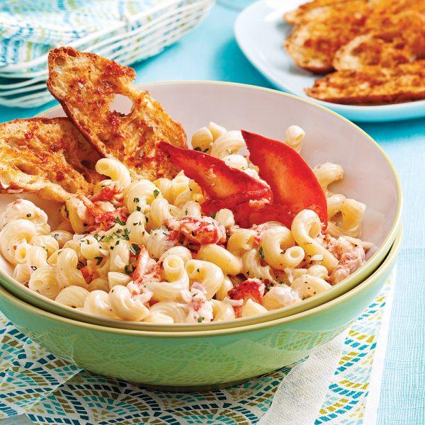 Tortiglionis au homard et crème de brie