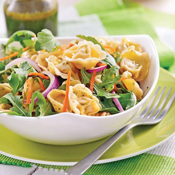 Salade de tortellinis au pesto