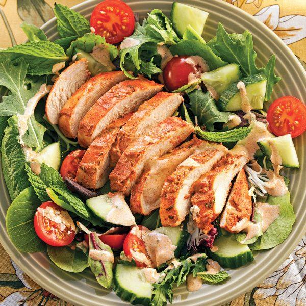 Salade tiède de poulet tandoori