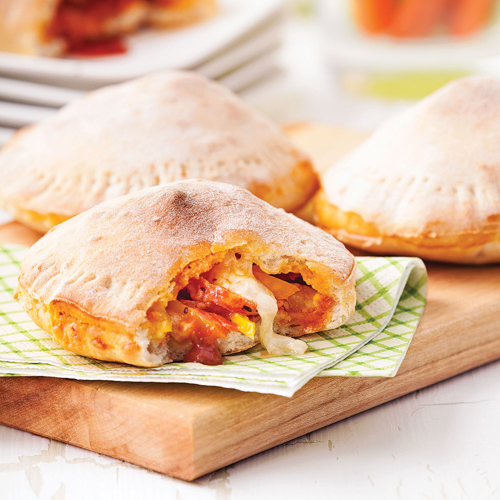 Pizzas-pochettes au pepperoni
