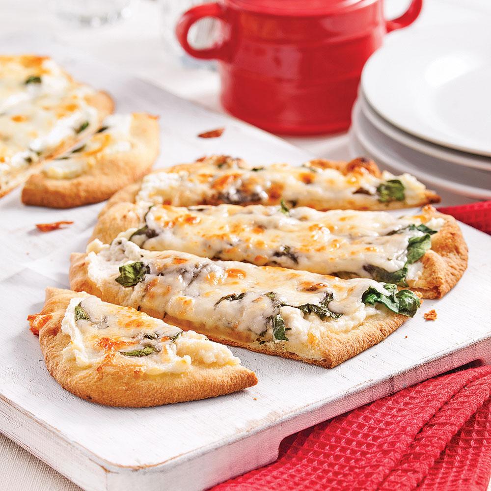 Pizza aux épinards et ricotta