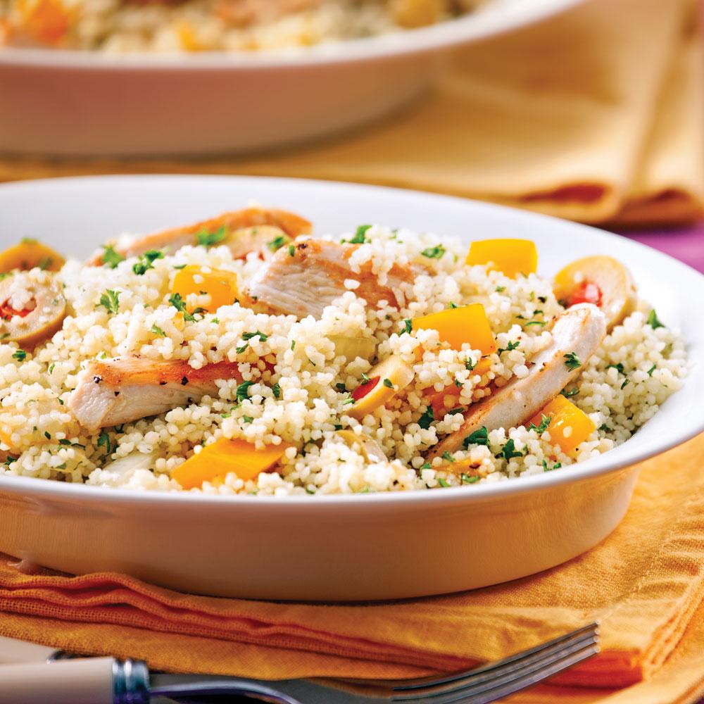 Couscous au poulet en casserole