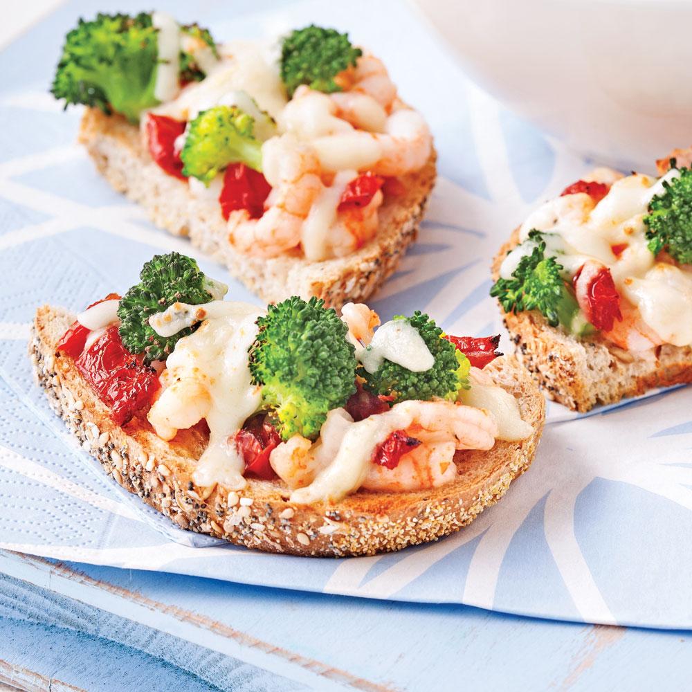 Croque-suisse aux crevettes