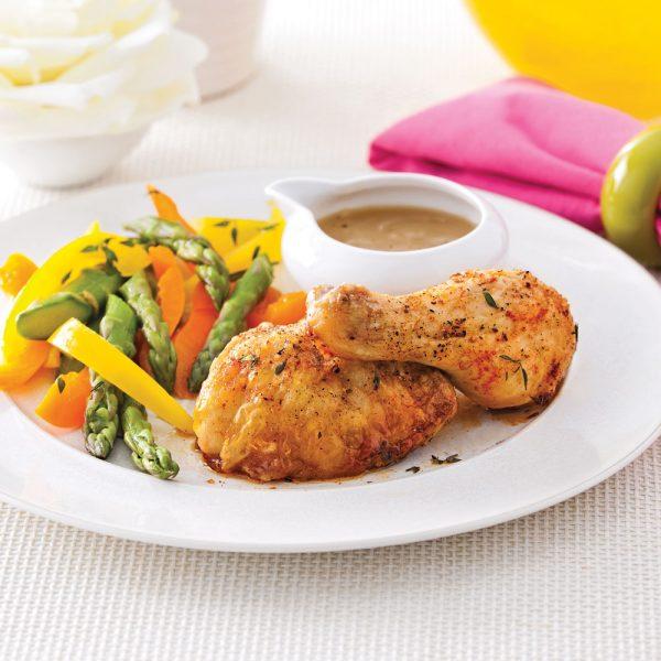 Cuisses de poulet rôties simplissimes