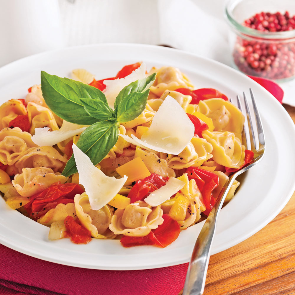 Tortellinis aux tomates rôties