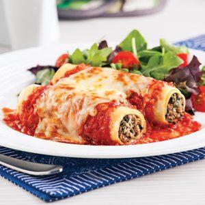 Cannellonis au veau et pesto aux tomates séchées faciles