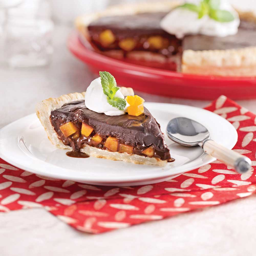 Tarte chocolat et mangue