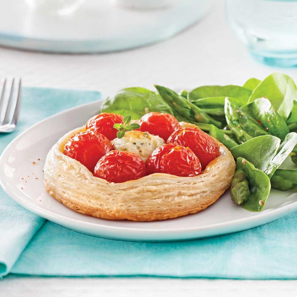 Tartelettes aux tomates raisins et fromage