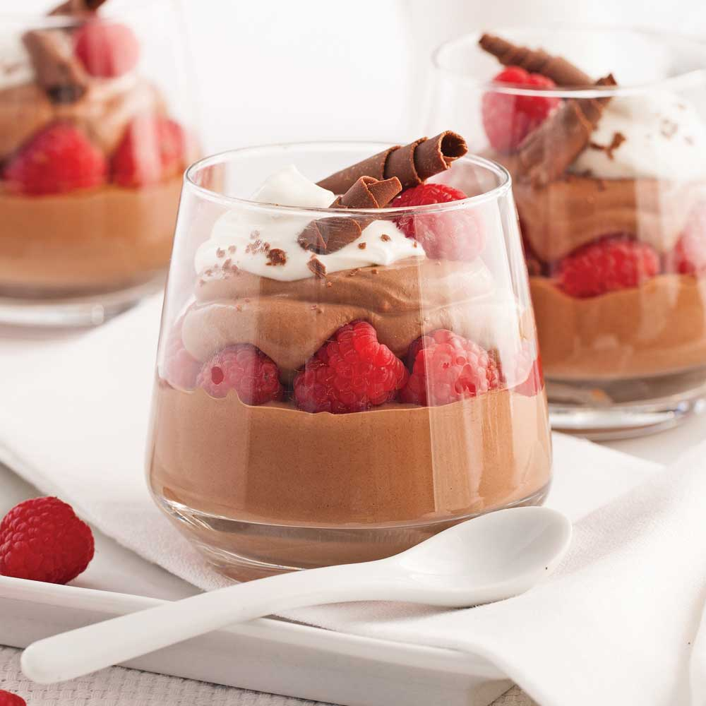 Mousse au chocolat en verrines