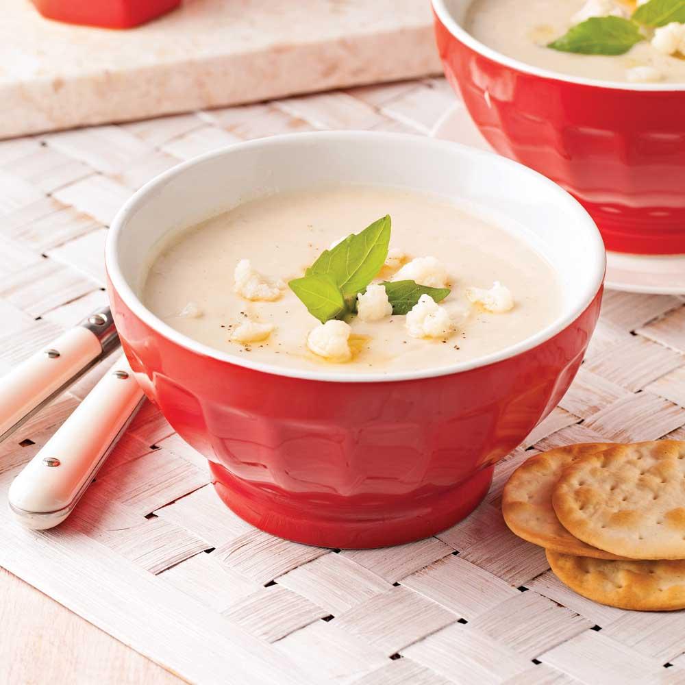Crème de chou-fleur et ail rôti