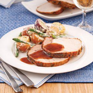 Rôti de porc cassonade et origan