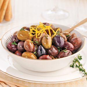 Olives chaudes au vin blanc