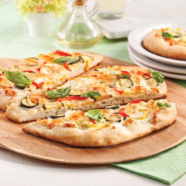 Pizza végé aux courgettes