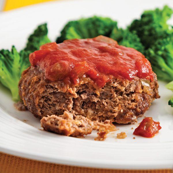 Mini-pains de viande à la salsa