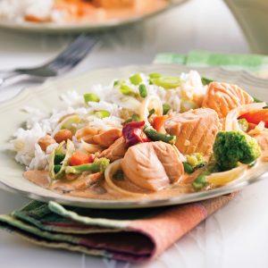 Saumon au cari à la thaï