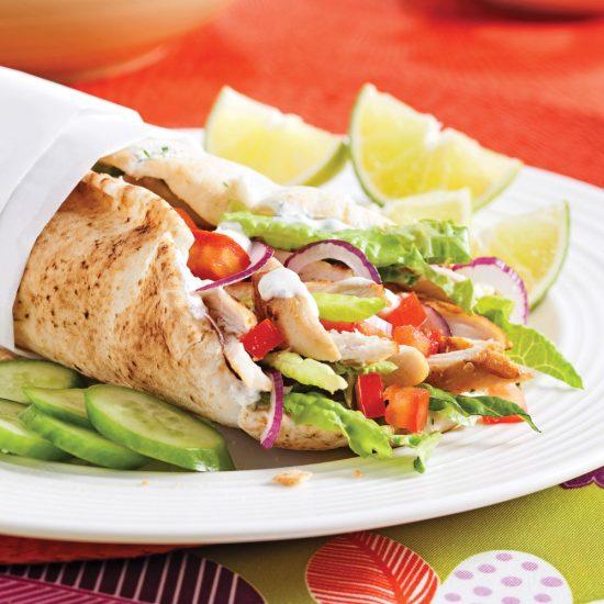 Chicken Tzatziki Pitas