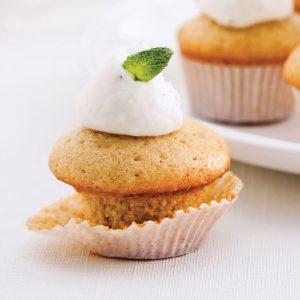 Mini-cupcakes au thé chaï et zeste de lime