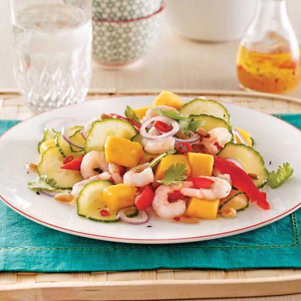 Salade de crevettes nordiques et mangue