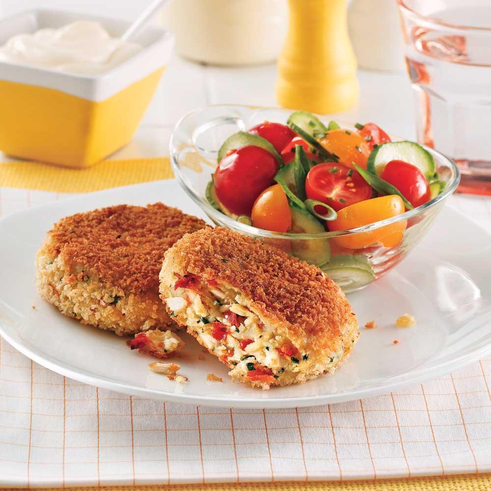 Croquettes de poulet aux tomates séchées