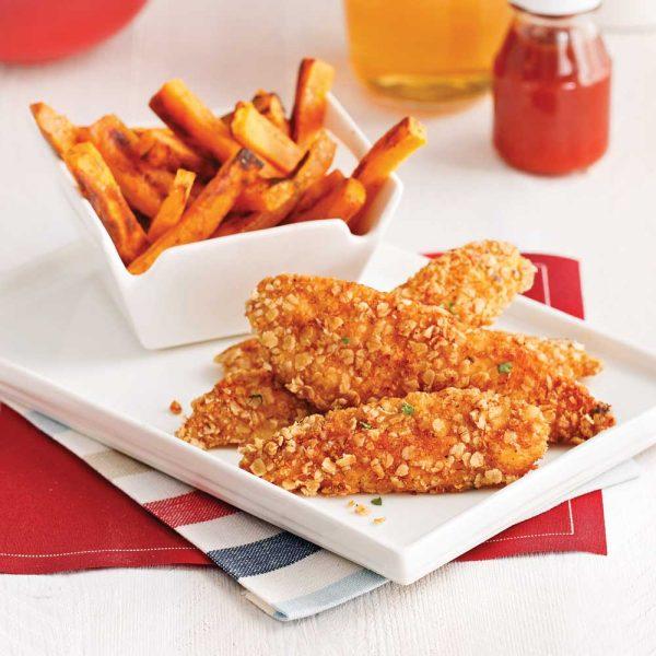 Fish'n chips santé citron et herbes