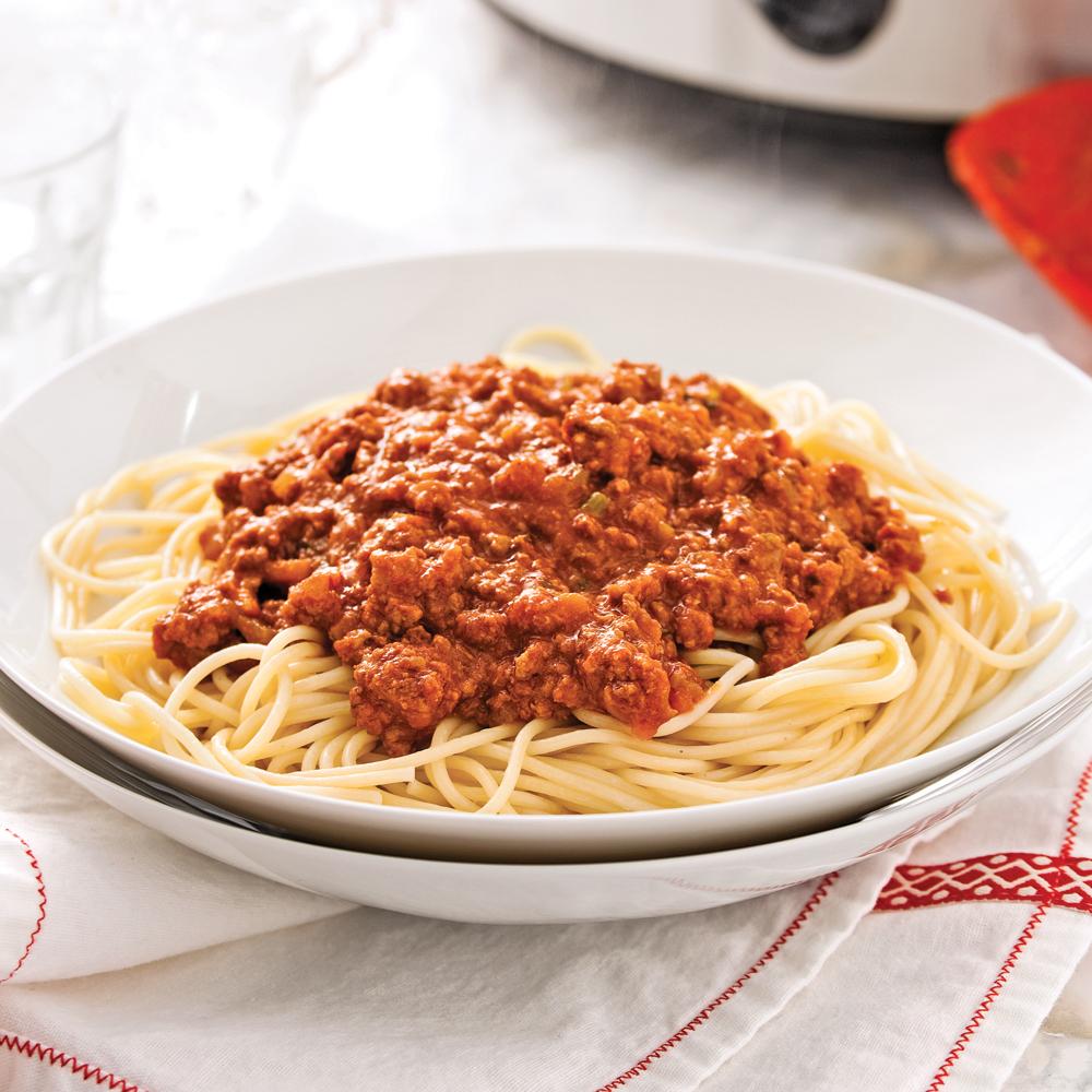 Spaghetti aux saucisses