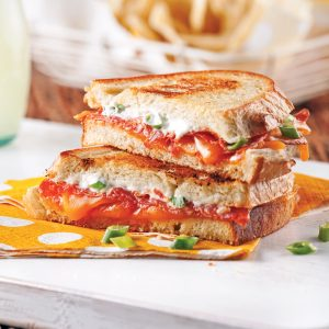 Grilled cheese au saucisson calabrese