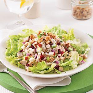 Salade de poulet crémeuse aux canneberges séchées