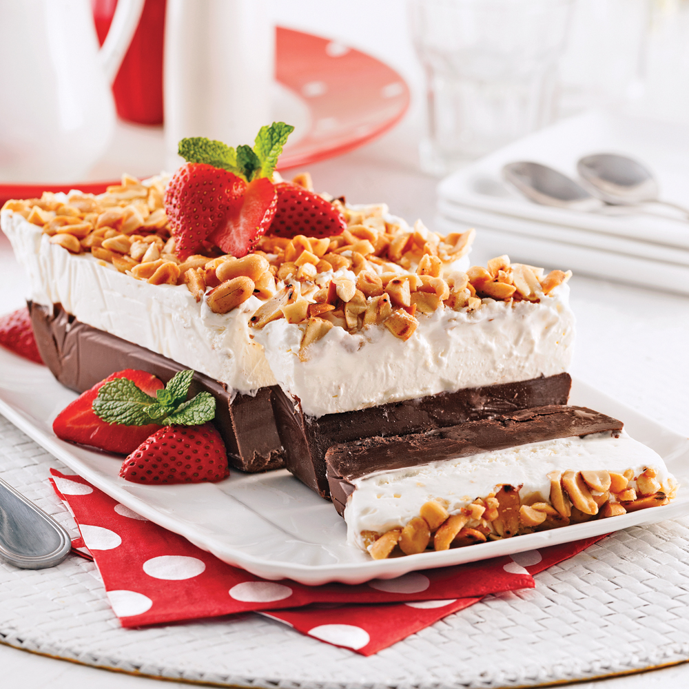 Terrine glacée au chocolat et arachides