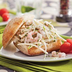 Sandwich aux crevettes et rémoulade