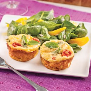 Mini-frittatas aux asperges et tomates