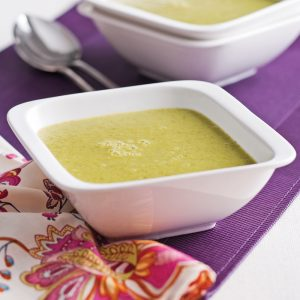 Crème de brocoli et pommes