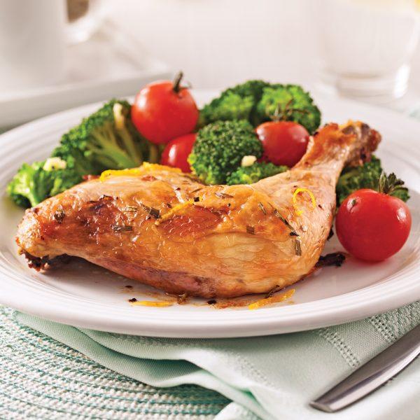 Cuisses de poulet à l'estragon et citron