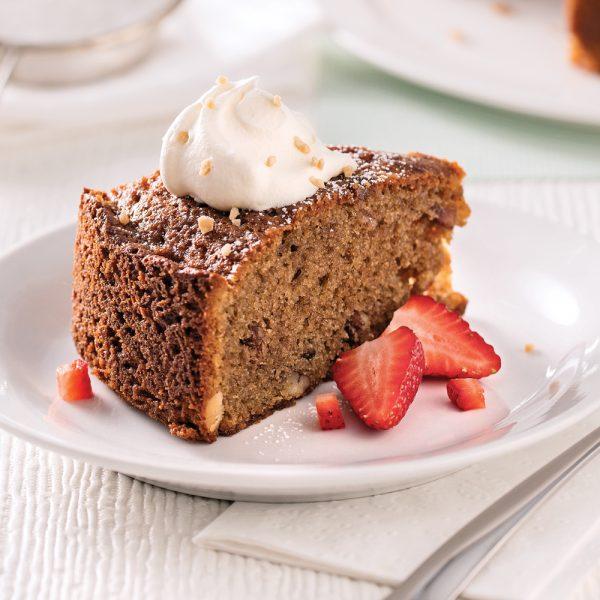 Gâteau au café et pacanes