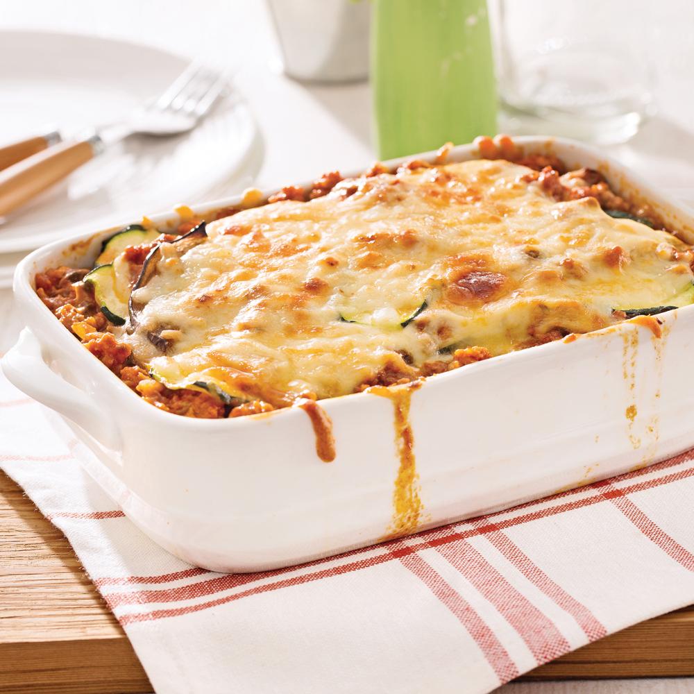 Lasagne aux courgettes et aubergine