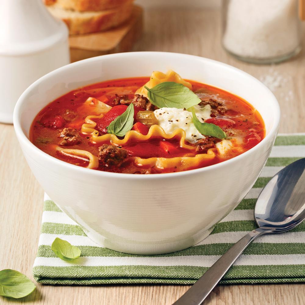Soupe à la lasagne