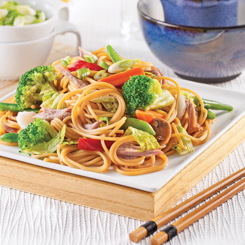 Spaghettis chinois au canard