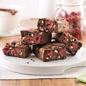 Brownies aux cerises et noix