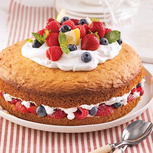 Gâteau étagé aux fruits