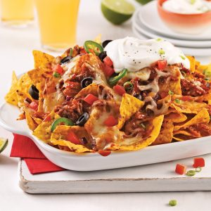 Nachos gourmand au porc effiloché