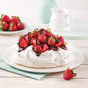 Pavlova aux fraises et chocolat