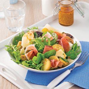 Salade de pommes de terre et prosciutto