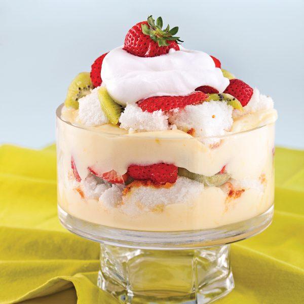 Bagatelle aux fraises et kiwis